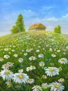 Oil Painting,Flower,Meadow,...