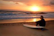 Surfing,Beach,Surf,Sunset,R...