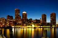 Boston,Urban Skyline,Night,...