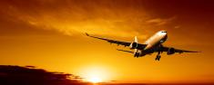 Airplane,Travel,Sunset,Comm...