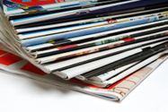Magazine,Newspaper,Stack,Th...