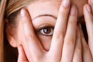 Fear,Women,Hiding,Peeking,H...