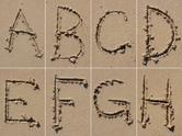 Sand,Alphabet,Beach,Text,Ty...