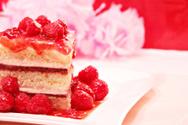 Cake,Raspberry,Sponge Cake,...