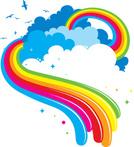 Rainbow,Cloud - Sky,Dreamli...