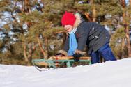 Tobogganing,Child,Winter,Sl...