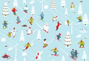 Skiing,Child,Sport,Cartoon,...