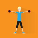 Aerobics,Men,Muscular Build...