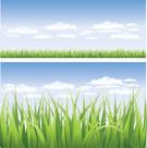 Grass,Cloud - Sky,Vector,Sk...