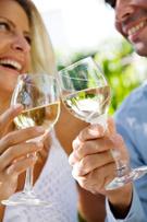 Wine,Drinking,Couple,Celebr...