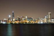 Chicago,Urban Skyline,Night...