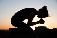 Praying,Women,Silhouette,Sa...
