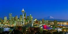 Seattle,Urban Skyline,Mt Ra...