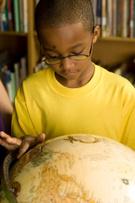 Child,Globe - Man Made Obje...