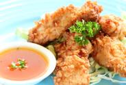 Chicken,Striped,Fried,Meat,...