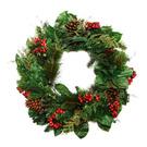 Wreath,Christmas,Holly,Isol...