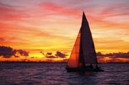 Sailing,Sailboat,Sunset,Peo...