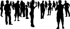 People,Silhouette,Talking,C...