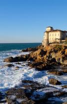 Tuscany,Sea,Cliff,Castle,It...
