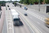 Multiple Lane Highway,Truck...
