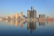 Detroit,Urban Skyline,Michi...