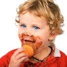 Child,Ice Cream,Messy,Eatin...