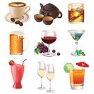 Cocktail,Symbol,Wine,Coffee...