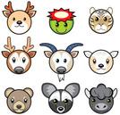 Goat,Cartoon,Animal,Deer,Ti...