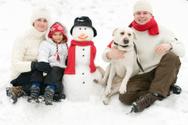 Family,Winter,Snow,Snowman,...