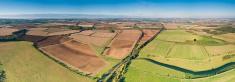 Aerial View,Farm,Field,Agri...