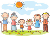 Family,Cartoon,Child,Happin...