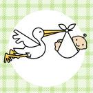 Baby,Stork,Baby Shower,Cart...