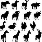 Pig,Cow,Silhouette,Sheep,Go...