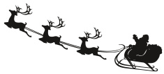 Santa Claus,Sleigh,Reindeer...