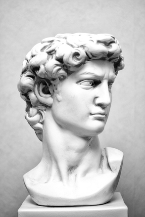 Bust of king David