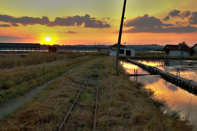 Sunset saltworks Burgas