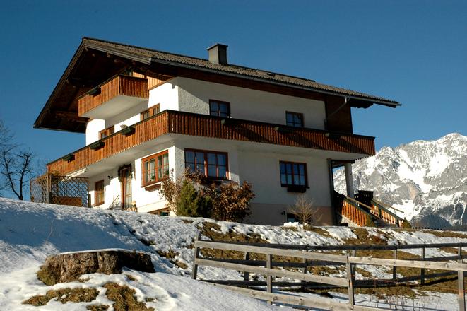 Austrian house in winter