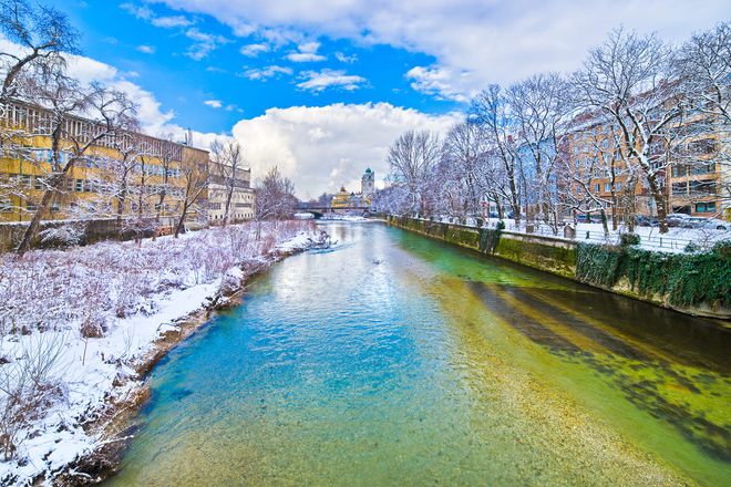 Free Isar River In Munich Stock Photo Freeimages Com