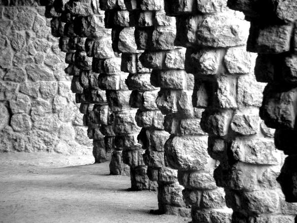 Leaning Pillars by Gaudi