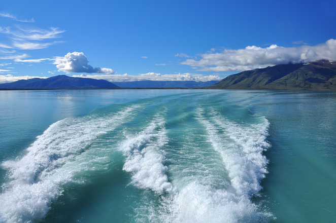 Free Boat Water Trail Stock Photo Freeimages Com