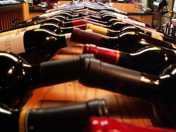 SF: Wine bottles in shop 02