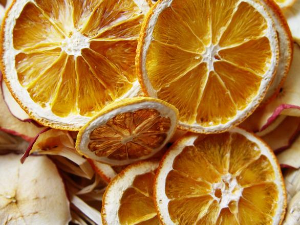 Kuivattuja appelsiineja