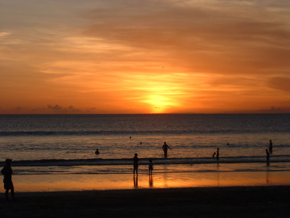 Free Sunset In Bali Stock Photo