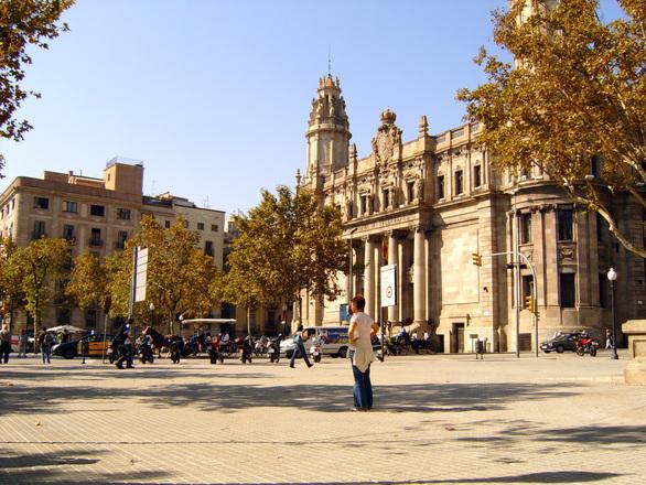 a square in Barcelona, photos, #1446103  FreeImagescom