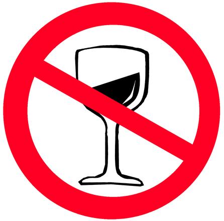 Sign NO ALCOHOL