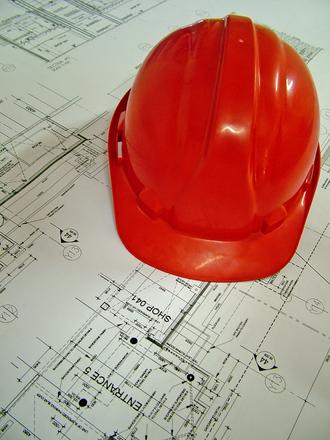 Construction - Hard Hat & Plan