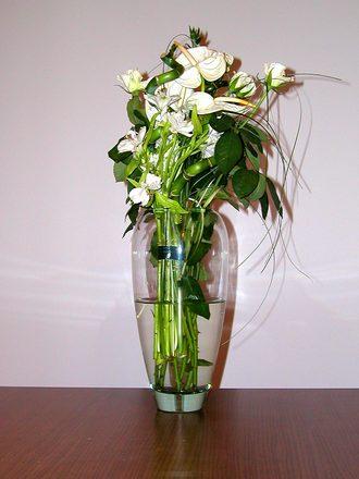 First vase