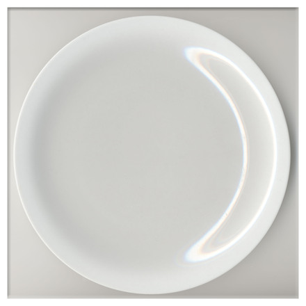 White Plate, smiling