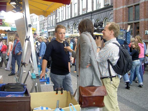 Interview on street