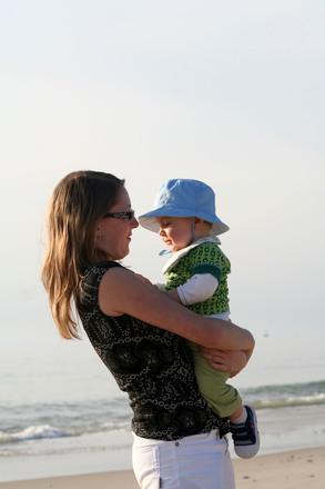 Woman & Baby on the beach 4